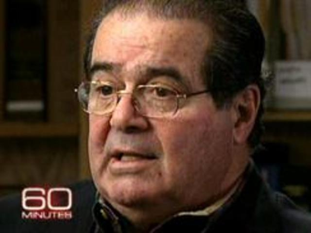 Justice Scalia was interviewed by CBS correspondent Lesley Stahl on the show 60 Minutes.