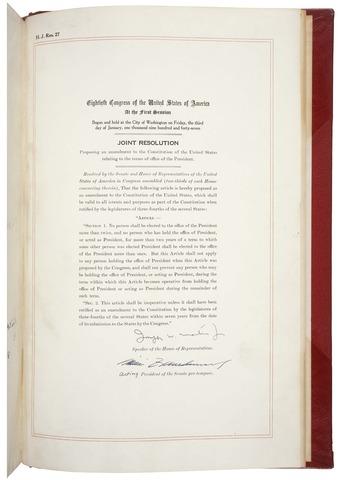 22nd Amendment Ratified