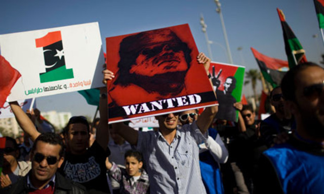 Libyan leaders face arrest on war crimes charges