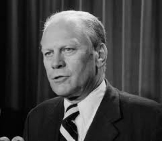 Gerald Ford takes over Nixon's term