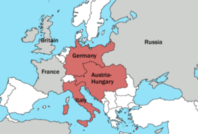 Triple Alliance was formed between Germany, A-H, Italy