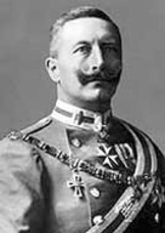 Kaiser Wilhelm II took leadership
