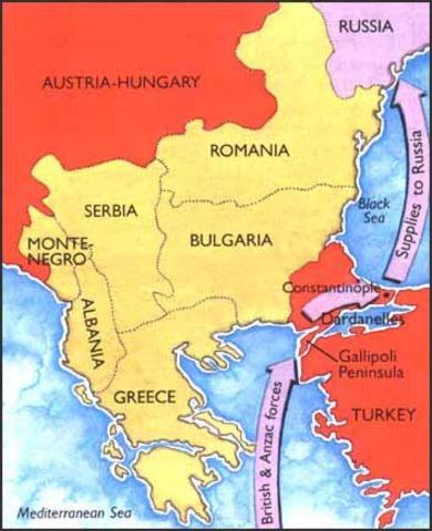 Allies launch the Gallipoli campaign