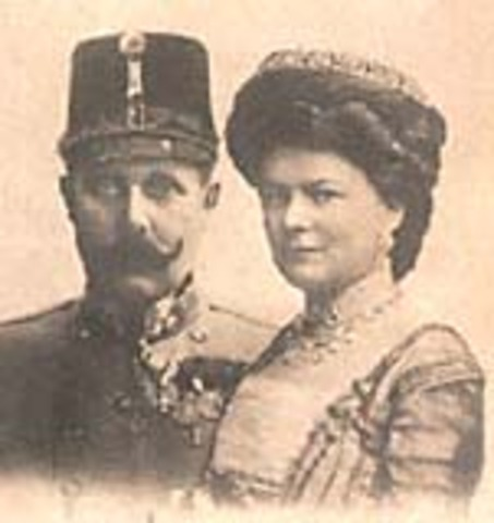 Assassination of Franz Ferdinand and his wife Sophie