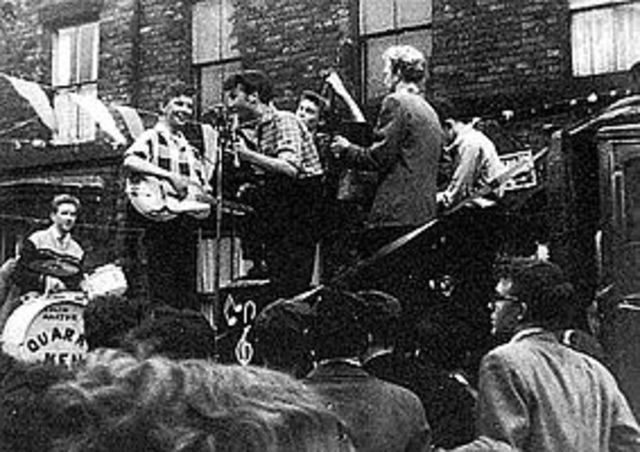 John forms Skiffle band Called The Quarrymen