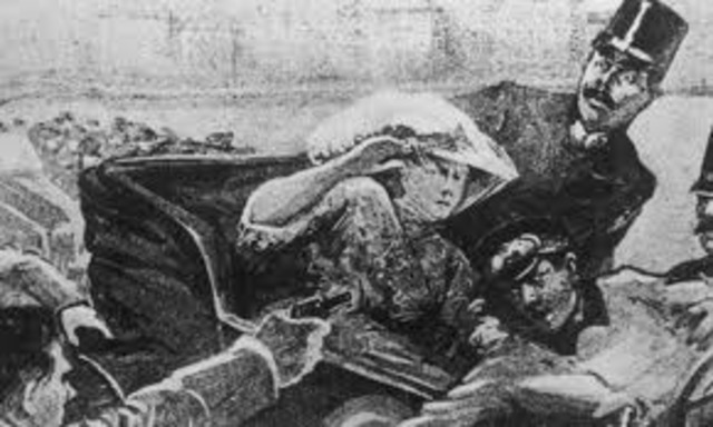 Franz Ferdinand and Wife are killed