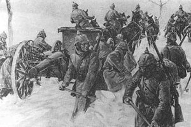 Austrians, with German assistance counter the Russians at the Battle of Limanowa