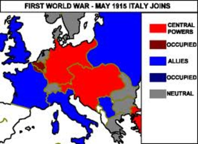 Italy joins the Entente