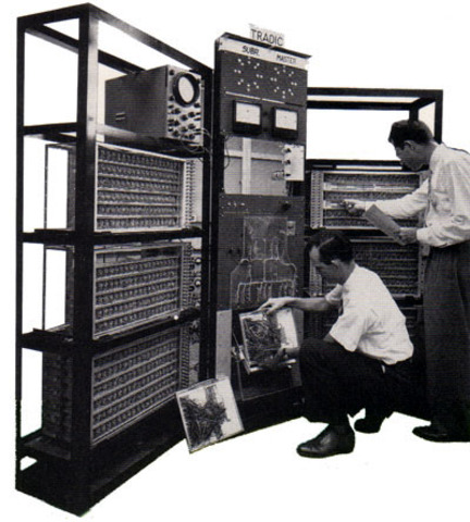 The First Fully Transistorized Computer