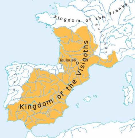 Visigoths invade Spain