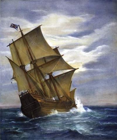 Colombus sails the ocean blue