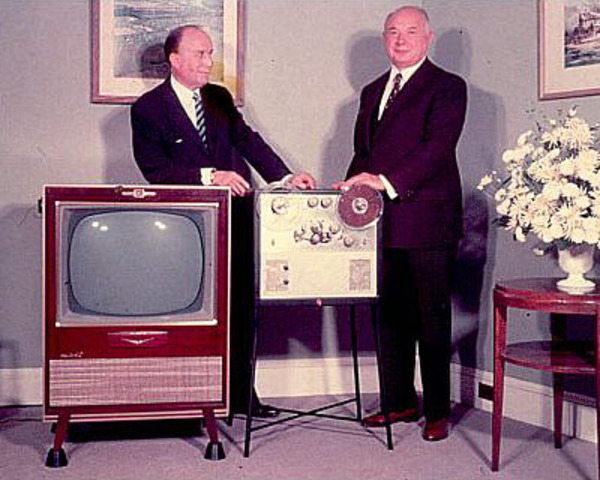 Videoplayer Presented to David Sarnoff