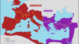 roman empire was divided into two empires timeline