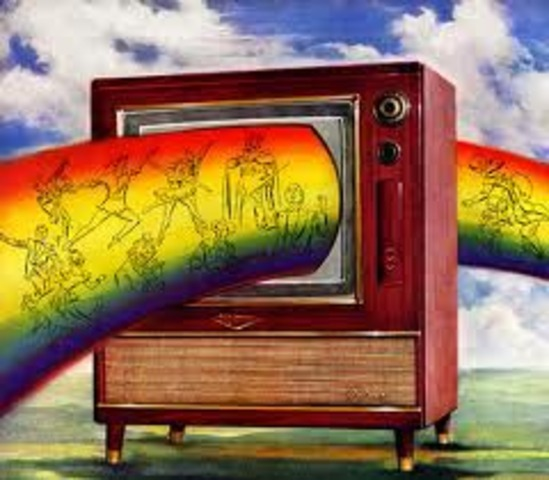First color T.V.broadcast.