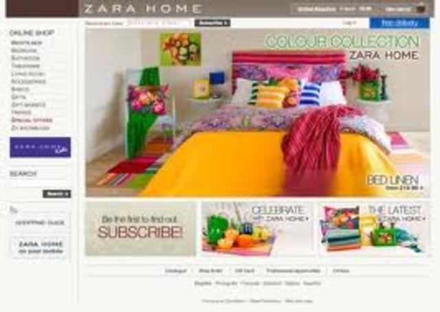 Primera Plataforma Online Zara Home