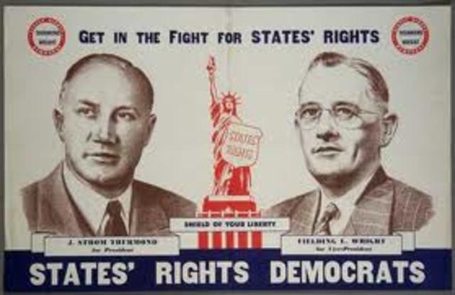 """States' Rights Democratic Party/ """"Dixiecrats"""""""