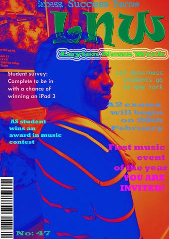 Preliminary Task - LSC magazin cover + contents page