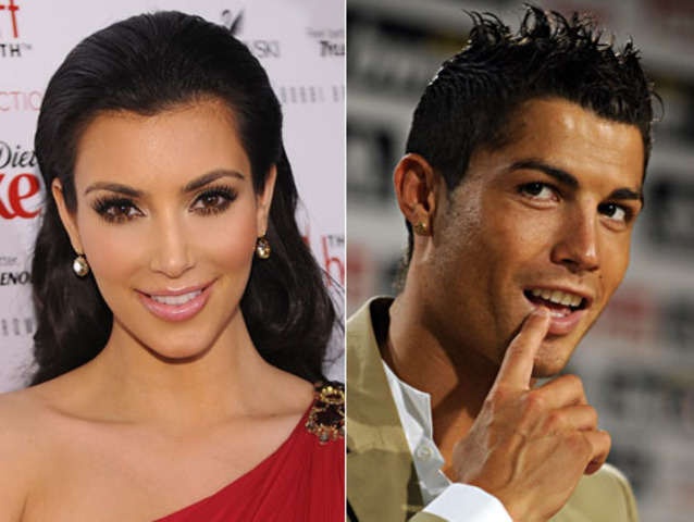 Spotted kissing soccer star Cristiano Ronaldo