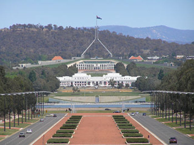 1908 Canberra was chosen to be the capital for AU