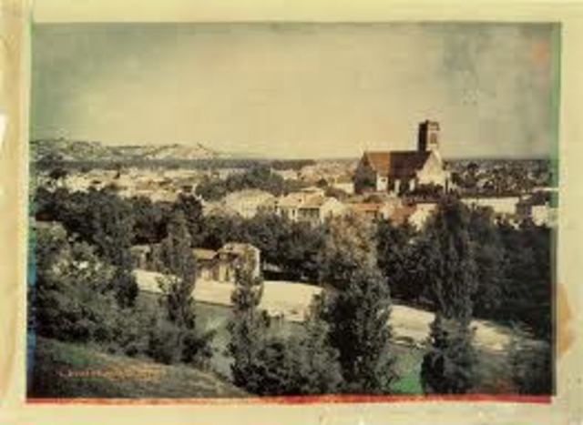 the first permenent color photo