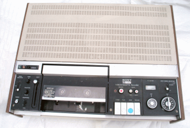 A practical videotape recording system for home use became available.