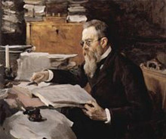 Begins regular study with Rimsky-Korsakov.