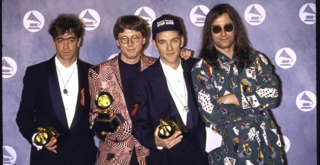 R.E.M. wins three Grammy Awards