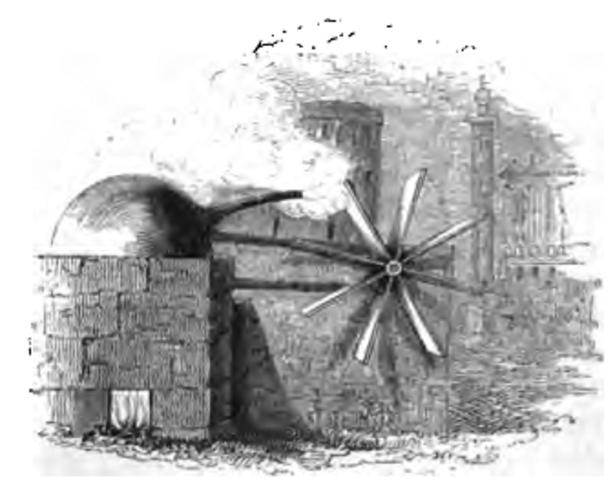 Giovanni Branca invents primitive turbine.