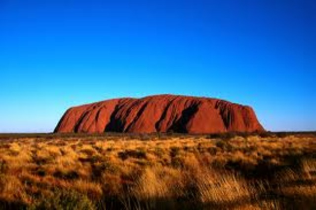 Ayers rock first in sight of the Europeans