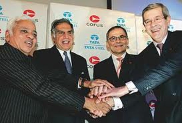 Tata Steel acquiresCorus, the UK-basedsteel company, for$ 12.1 bn, thenthe biggest overseasacquisition by anIndian company.Currently Tata Steel isamong top 10 globalsteel companies withcrude steel productioncapacity of over28 million tonnesper annum.