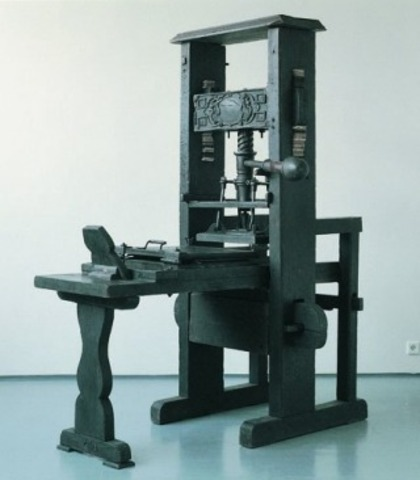 Johann Gutenberg invents the printing press