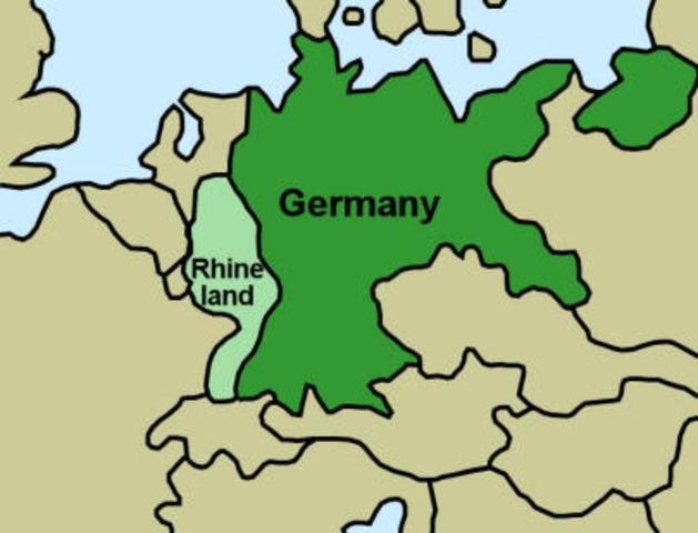 Germany invades Rhineland