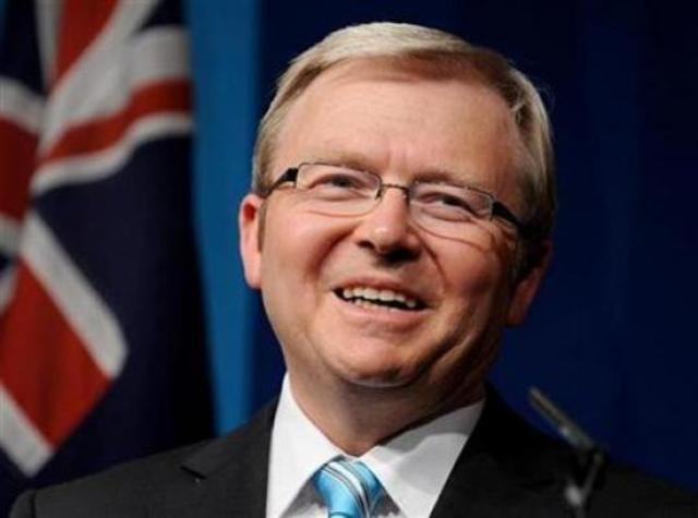 Kevin Rudd is elected