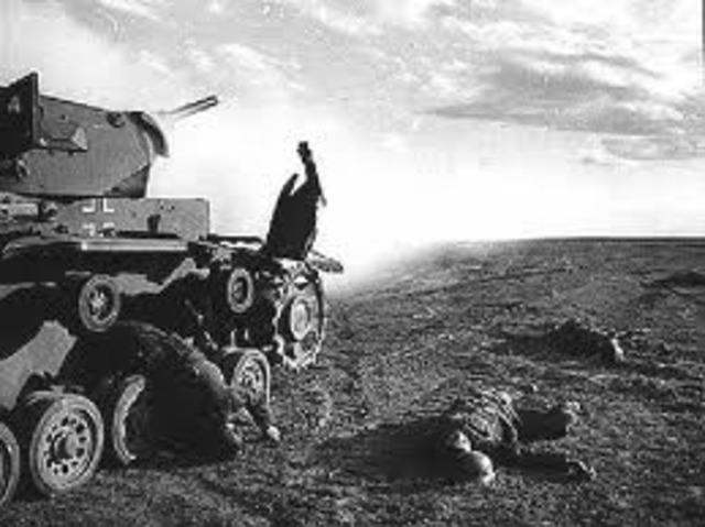 The Soviet Uion defeats the Germans at the Battle of Stalingrad
