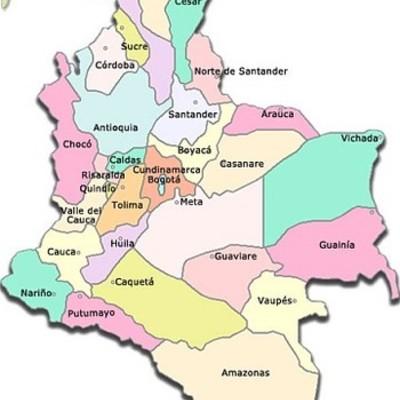 Historia de la organización territorial en Colombia timeline