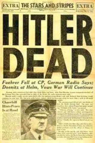 Hitler and his Wife Commit Suicide