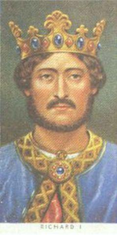 Richard I reigns King of England