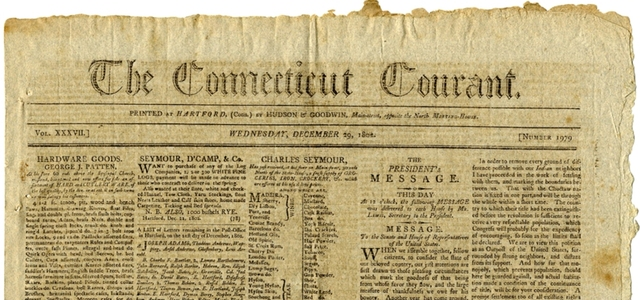 The Connecticut Courant starts publishing