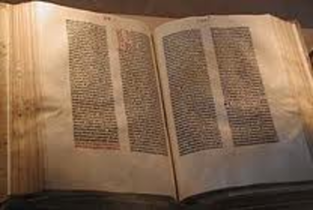 Gutenberg Bible Published