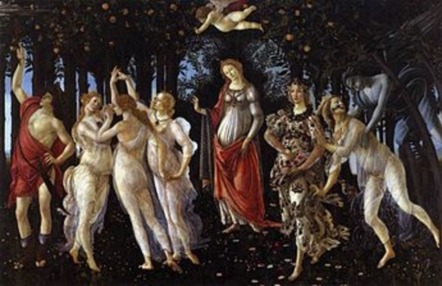 Botticelli paints Primavera