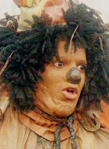 Has movie debut as a scarecrow in The Wiz, an all-black remake of The Wizard of Oz.