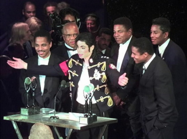 Jackson and his brothers were elected to the Rock and Roll Hall ofFame in Cleveland, Ohio.
