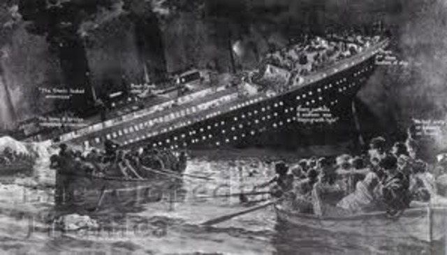 Titanic Sinks.