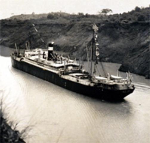Panama Canal Opens.