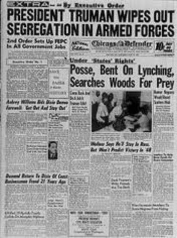Truman signs Executive Order 9981,