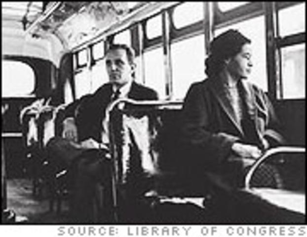 NAACP member Rosa Parks