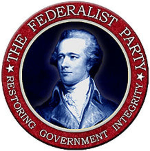 A description of the federalist party born in the 1790 by alexander hamilton