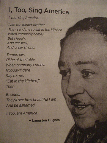 I Too Sing America by Langston Hughes