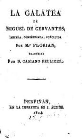 Cervantes published La Galatea