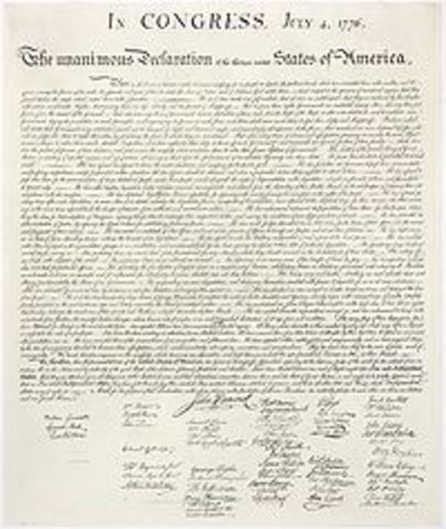 The Declaration of Independence is ratified